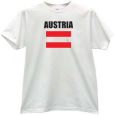 Austria Flag Cool T-shirt in white