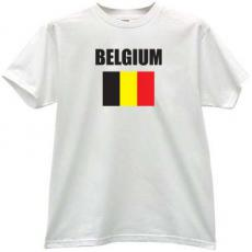 Belgium Flag T-shirt in white