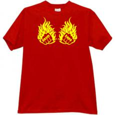 Drum and Bass Cool Music T-shirt in red