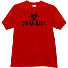 Drum and Bass Cool Music T-shirt in red2