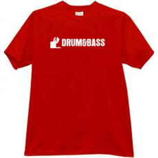 Drum and Bass Cool Music T-shirt in red3