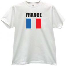 France Flag T-shirt in white