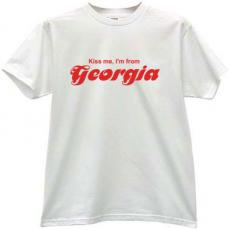 Kiss me Im from Georgia - Cool T-shirt