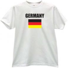 Germany Flag T-shirt in White