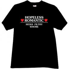 Hopeless Romantic Vintage T-shirt in Black