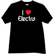 I love Electro Cool Music T-shirt in black