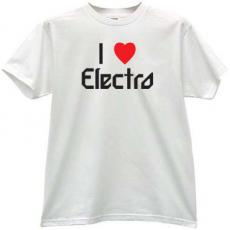 I love Electro Cool Music T-shirt in white