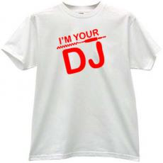 Im Your DJ Cool Music T-shirt in white