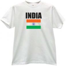 India Flag T-shirt in white