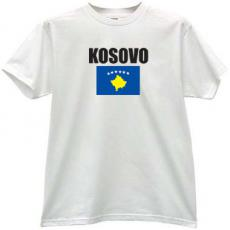 Kosovo Flag T-shirt in white