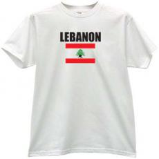 Lebanon Flag T-shirt in white