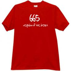 665 Neighbor of the Beast Hells t-shirt in red