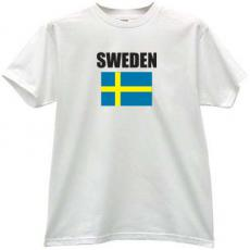 Sweden Flag T-shirt in white