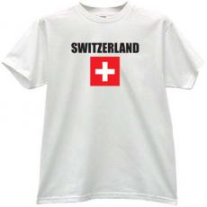 Switzerland Flag T-shirt in white